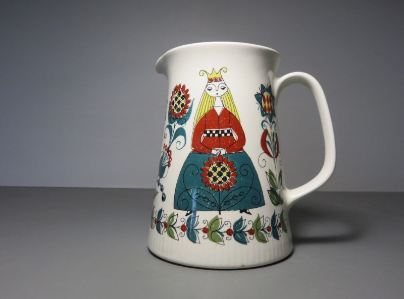Beautiful Scandinavian Pottery Jug Pitcher From The