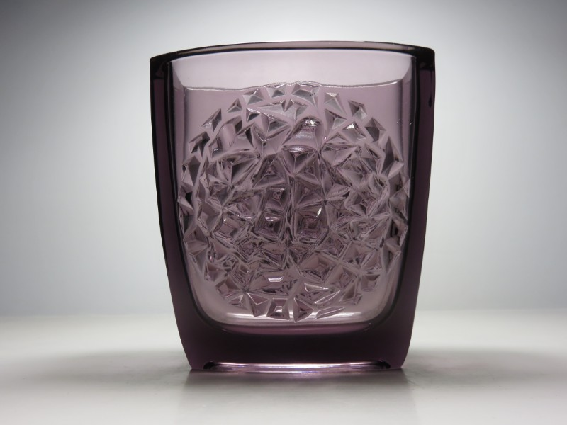 Large Art Glass Trough Vase From The Bohemian Studio Of Rudolfova