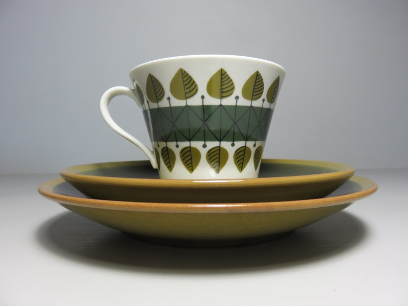 Period Set Of Six Scandinavian Afternoon Tea Trios From