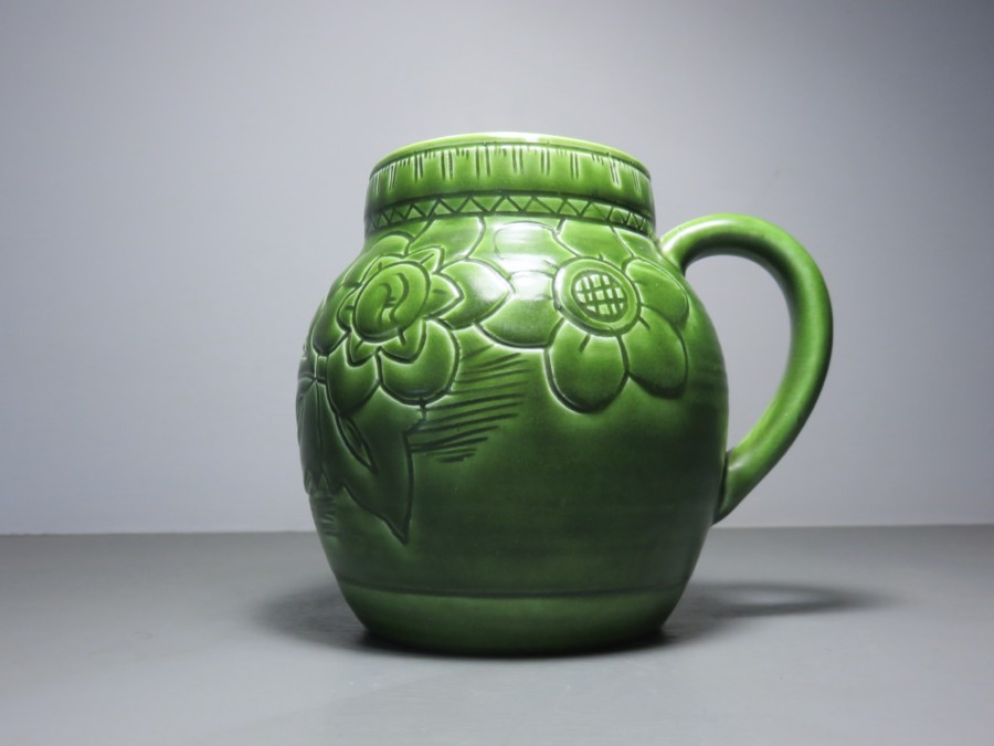 Art Deco English Pottery Vase From The Derbyshire Based Studio Of